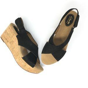 Clarks Caslynn Shae Cork Platform Wedge Sandal